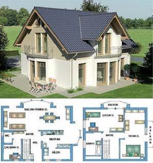 Güzel bir prefabrik ev