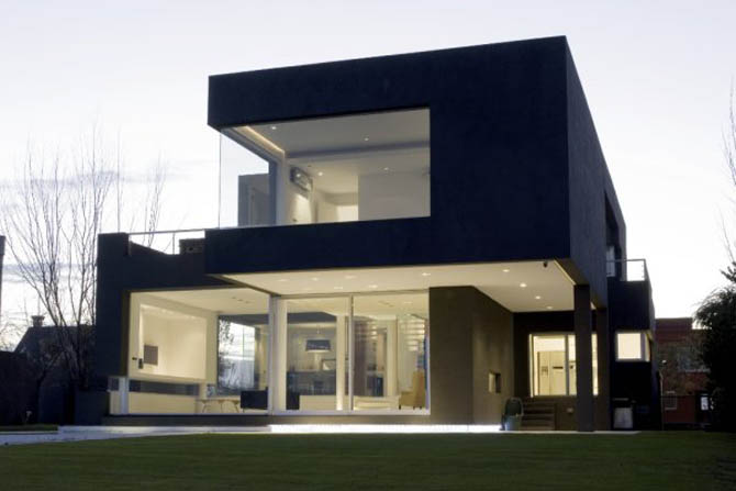 Modern bir prefabrik ev